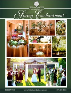 Spring Enchantment Wedding Package, Historic Jordan Springs, Winchester, VA