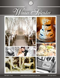 Winter Splendor Wedding Package Historic Jordan Springs, Winchester VA