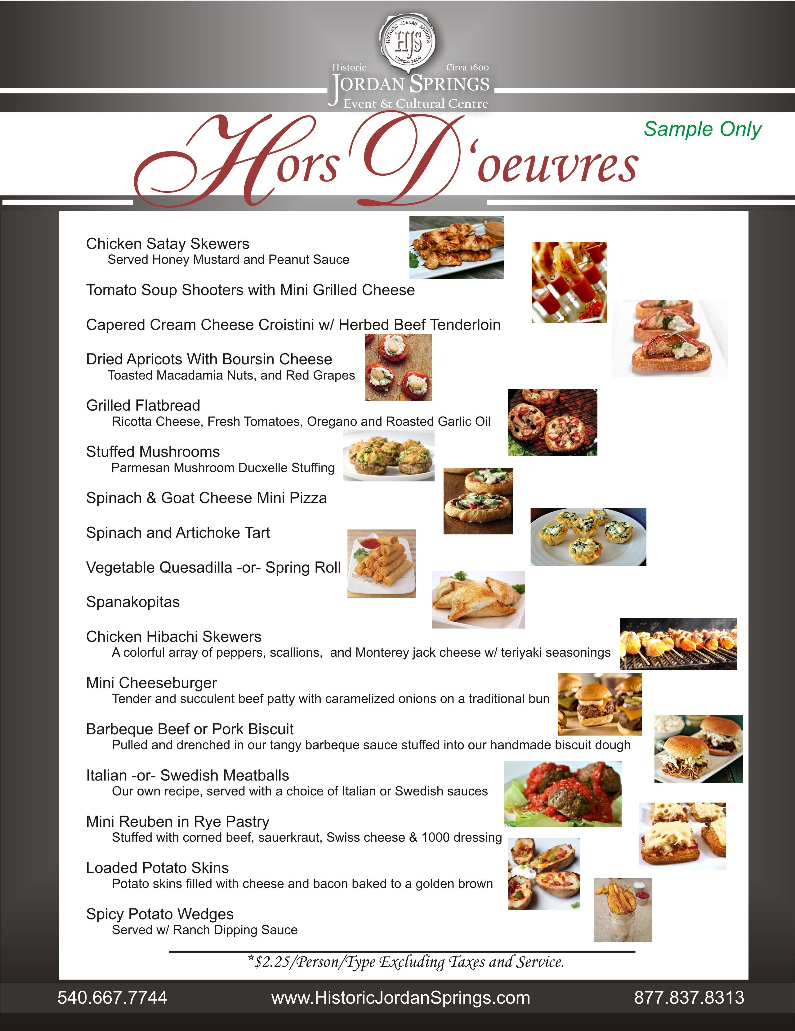 11 Sample Hors D'oeuvres 001